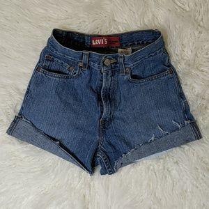 High Waist Levi's Cuffed Shorts